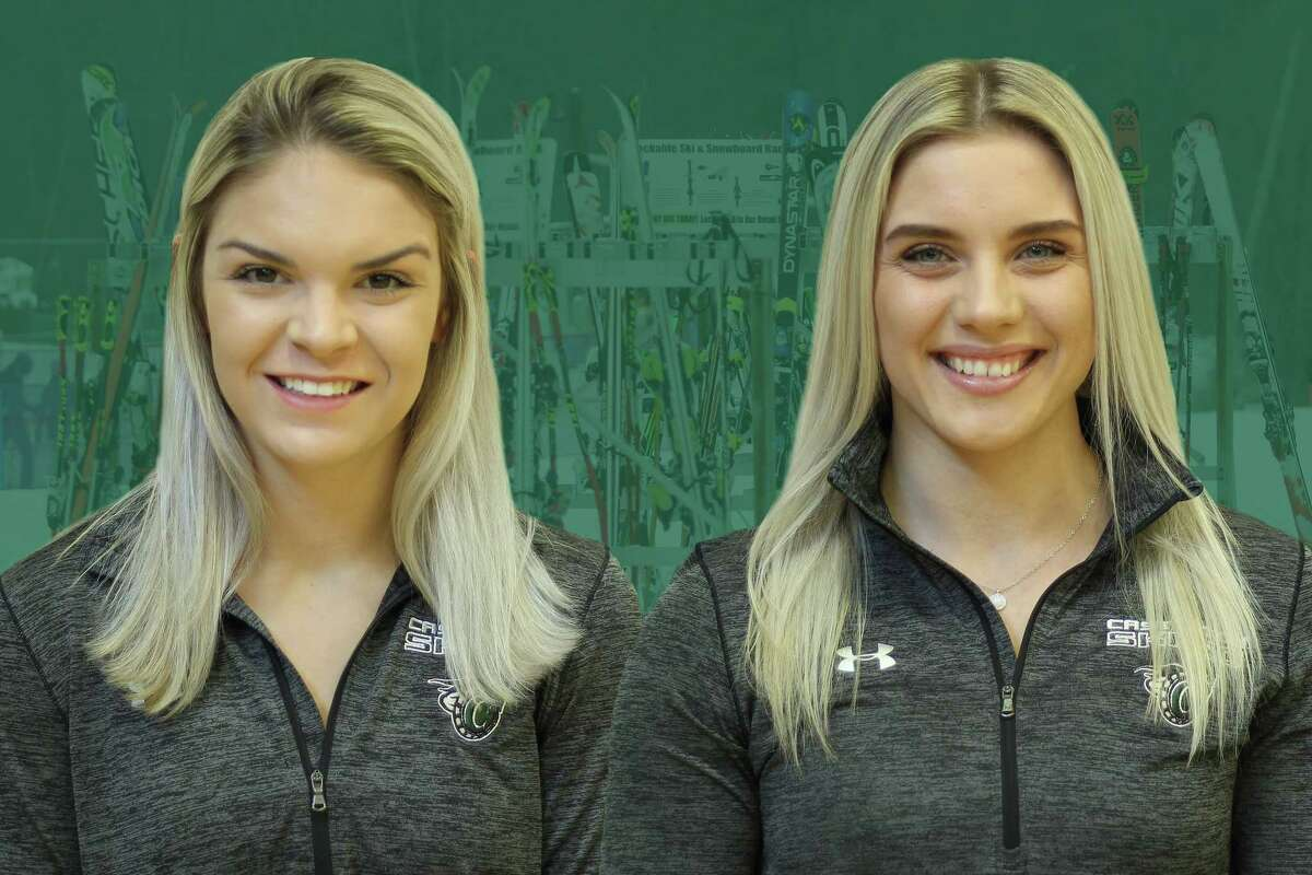 Kylie Mackie, left, and Linn Ljungemo saved fellow ski racer VictorWiacekafter he was injured on West Mountain on Feb. 3, 2019. (Provided by Castleton University)