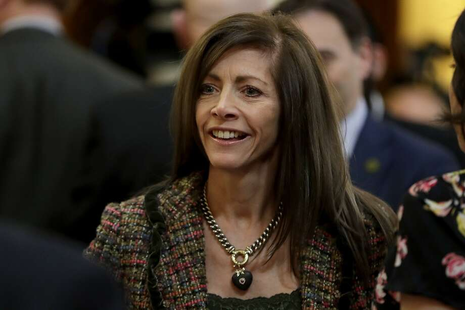 New Jersey First Lady Tammy Murphy arrives at the statehouse assembly chambers prior to Gov. Phil Murphy's first State of the State address, Tuesday, Jan. 15, 2019, in Trenton, N.J. (AP Photo/Julio Cortez) Photo: Julio Cortez / Associated Press