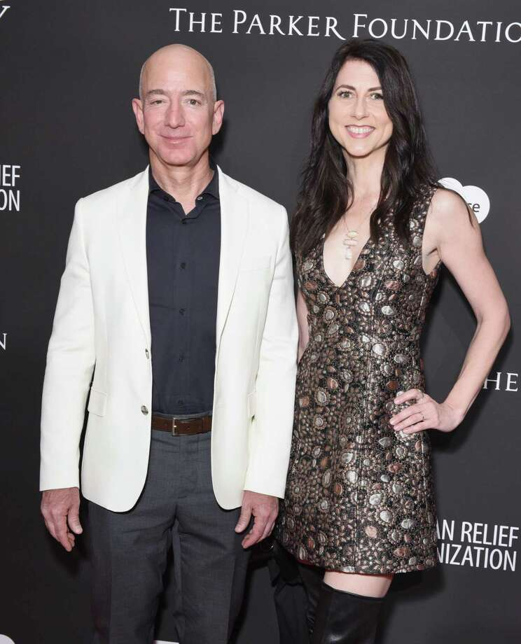 CEO Jeff Bezos' affair — he and wife MacKenzie, above, are divorcing — shows that good judgment in business apparently doesn't insulate one from poor personal decisions. Photo: Presley Ann /Getty Images / 2018 Getty Images
