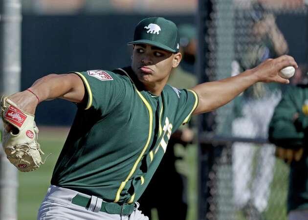 Major focus on Jesus Luzardo doesn't faze A's rotation hopeful