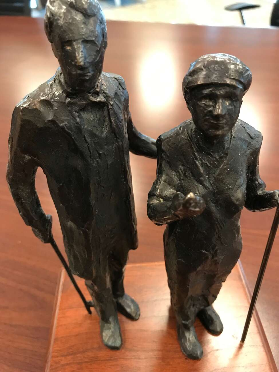 Model of Harriet Tubman and William Henry Seward statue by sculptor Dexter Benedict. (Paul Grondahl photo)