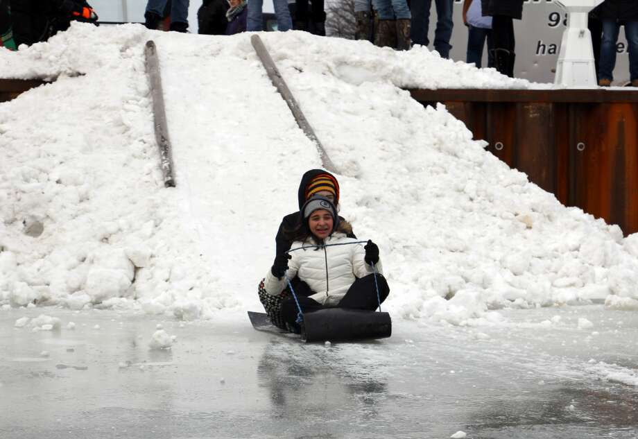 Here's a scene from last year's Caseville's Shanty Days celebration. This year's fun starts this Friday, with a handful of events, and continues on Saturday, starting at 7 a.m., with the ice fishing contest. Activities will continue throughout the day, until 9 p.m. Photo: Tribune File Photo