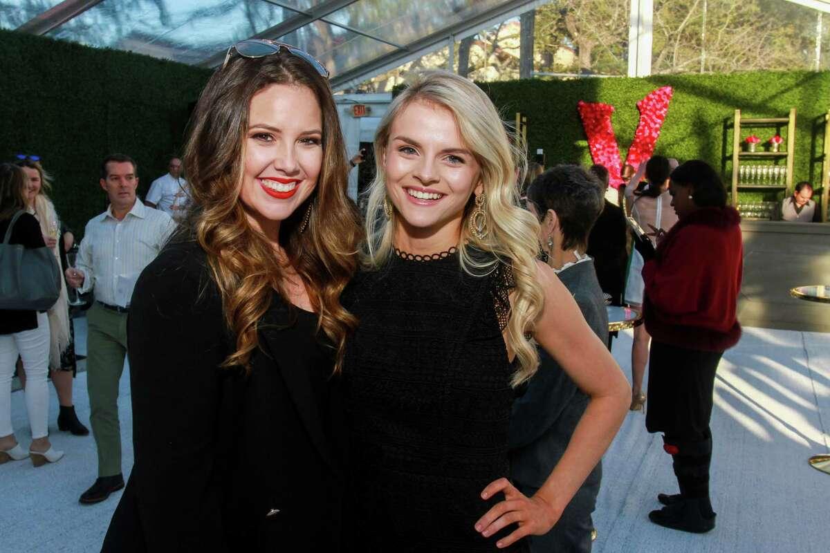 Jenna Finklea, left, and Katie Dillard at the opening of Valobra River Oaks.