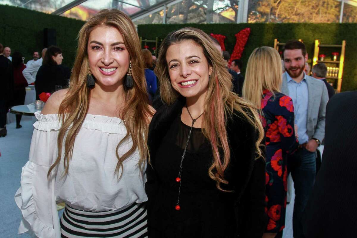 Andrea Gomez, left, and Paola Montoya at the opening of Valobra River Oaks.