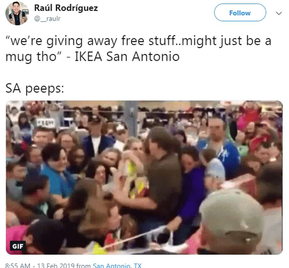 "@__raulr: ""we're giving away free stuff..might just be a mug tho"" - IKEA San Antonio