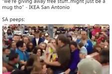 "@__raulr: ""we're giving away free stuff..might just be a mug tho"" - IKEA San Antonio SA peeps:"