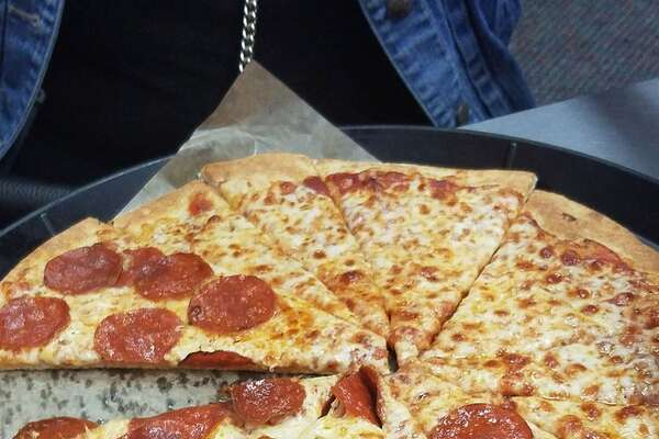 The pizza at Chuck E. Cheese.