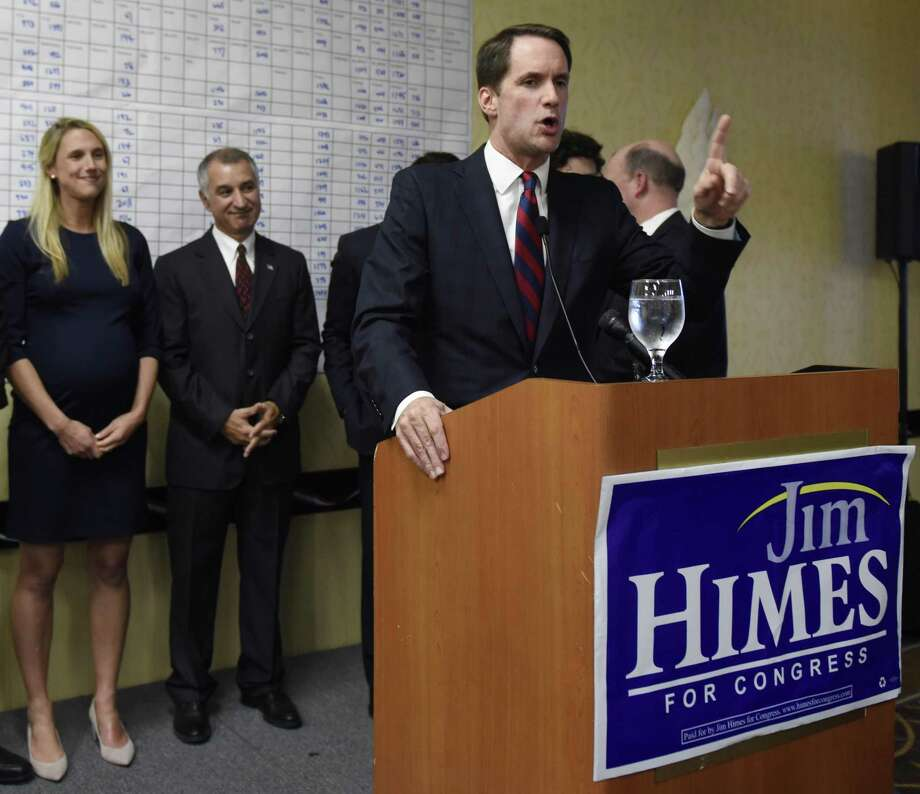 U.S. Rep. Jim Himes, seen in Stamford last Election Night, will be discussing what's happening in the new Congress where he and fellow Democrats are back in the House majority at two Greenwich events next week. He will speak before the Retired Men's Association on Feb. 20 and at a joint Indivisible Greenwich and Indivisible Stamford event on Feb. 21. Photo: Tyler Sizemore / Hearst Connecticut Media / Greenwich Time
