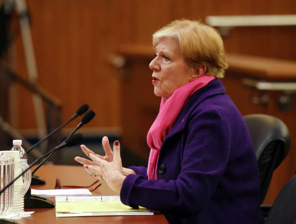 State Department of Labor Commissioner Roberta Reardon, pictured here at a legislative hearing in February 2019, said criminals are using the global pandemic as cover to defraud the unemployment system. (Phoebe Sheehan/Times Union)