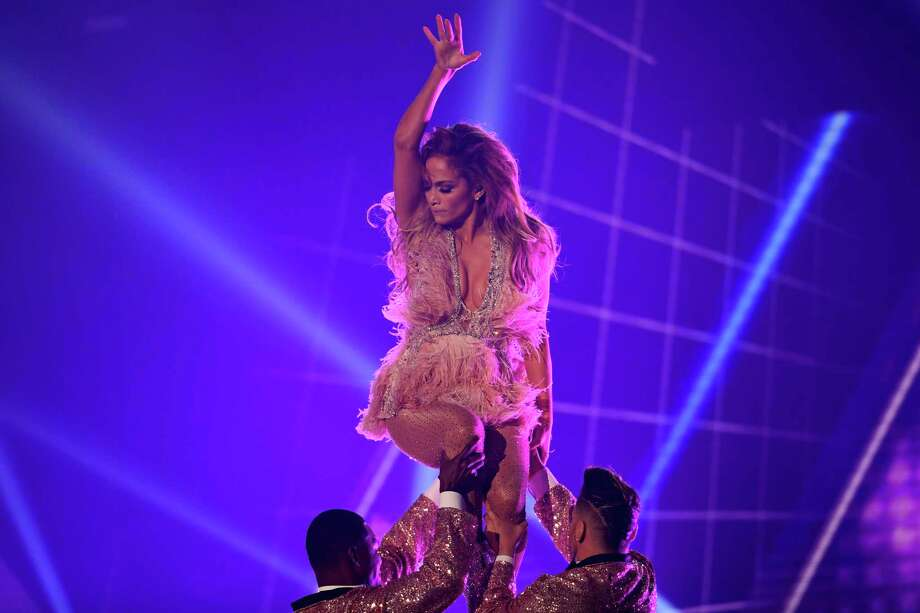 TOPSHOT - US singer Jennifer Lopez performs onstage during the 61st Annual Grammy Awards on February 10, 2019, in Los Angeles. (Photo by Robyn Beck / AFP)ROBYN BECK/AFP/Getty Images Photo: ROBYN BECK, AFP/Getty Images / AFP or licensors