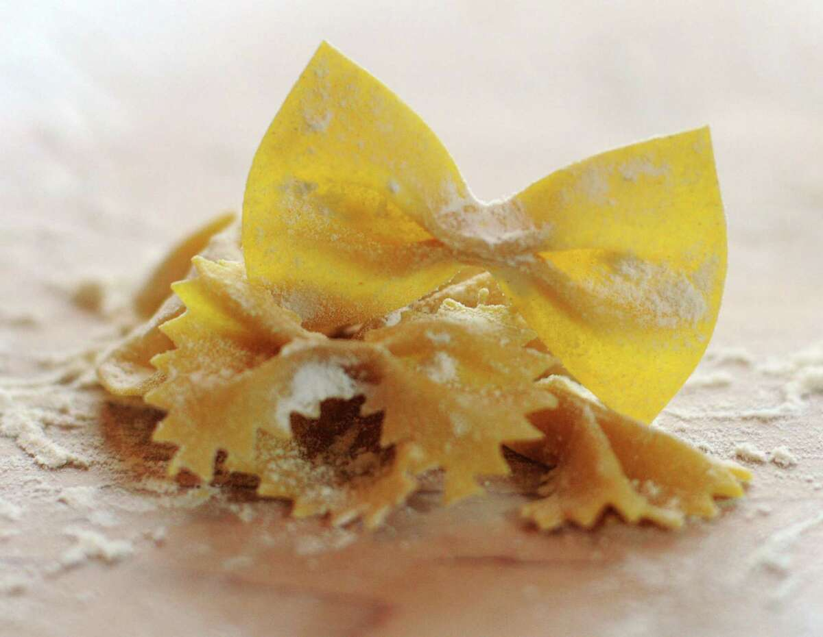 Fresh farfalle made by Elena D'Agostino.