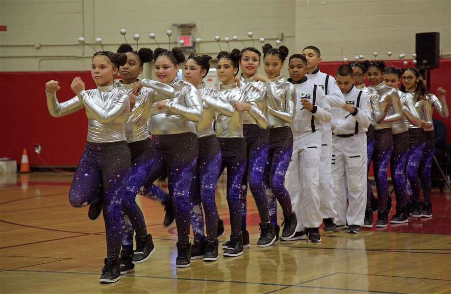 "The co-ed St. Augustine team was a hit at the Warde High School ""Dance Jam"" dance competition on Saturday, Feb. 9, 2019, in Fairfield, Conn. Photo: Jarret Liotta / For Hearst Connecticut Media / Fairfield Citizen News Freelance"