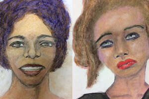 Samuel Little sketches of two alleged victims.