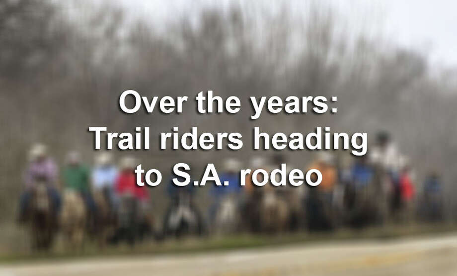 Click ahead to view photos of the annual trek horse riders of different groups make to San Antonio for the rodeo. Photo: Billy Calzada/Staff Photographer / San Antonio Express-News