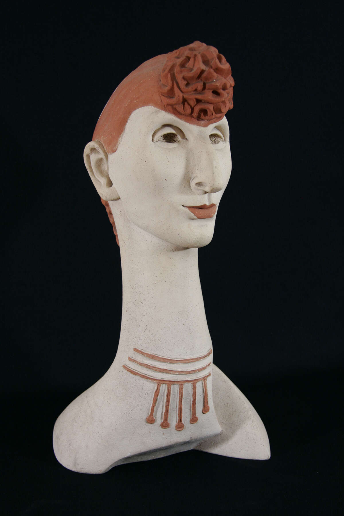 """Woodstock Artists Association & Museum Gela Forster (1892-1957) """"Caricature of A Redhead"""" (n.d. ceramic) Woodstock Artists Association & Museum, Gift of Frances Gray Archipenko."""