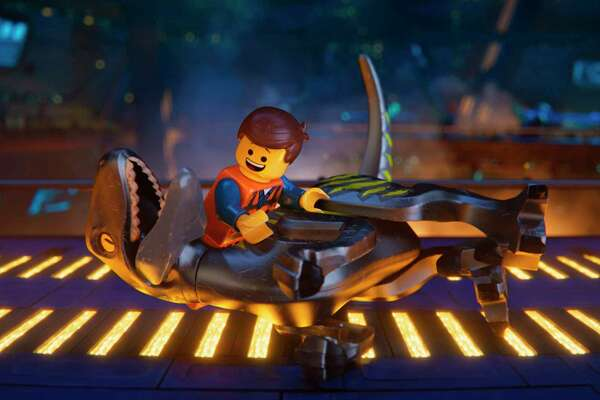 """This image released by Warner Bros. Pictures shows the character Emmet, voiced by Chris Pratt, in a scene from """"The Lego Movie 2: The Second Part."""" (Warner Bros. Pictures via AP)"""