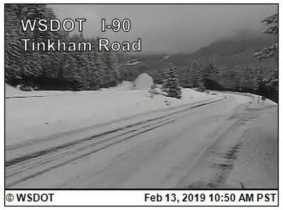 North Bend has declared a state of emergency due to heavy amounts of snow and severe weather conditions in the area. Here, a WSDOT camera looks at Interstate 90 over Snoqualmie Pass, which was closed Monday and remained closed for most of Wednesday. Photo: Courtesy WSDOT