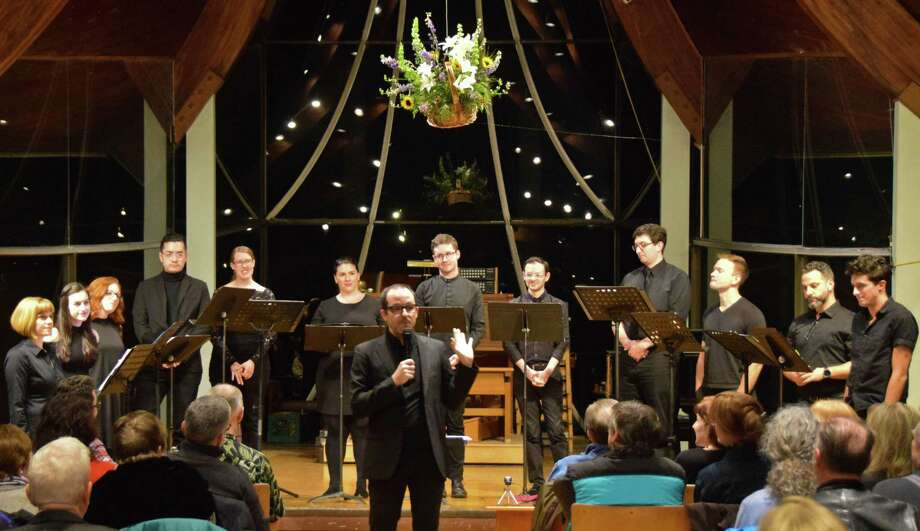 "The award-winning 10-voice vocal ensemble Choral Chameleon will perform ""Storytime"" at the Westport Unitarian Church Feb. 23. Photo: Choral Cameleon / Contributed Photo"