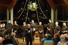 "The award-winning 10-voice vocal ensemble Choral Chameleon will perform ""Storytime"" at the Westport Unitarian Church Feb. 23."