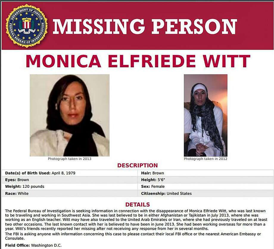 "Monica Elfriede Witt, 39, a former U.S. Air Force counterintelligence officer, defected in 2013 after attending a conference in Iran aimed at ""condemning American moral standards."" Photo: FBI"