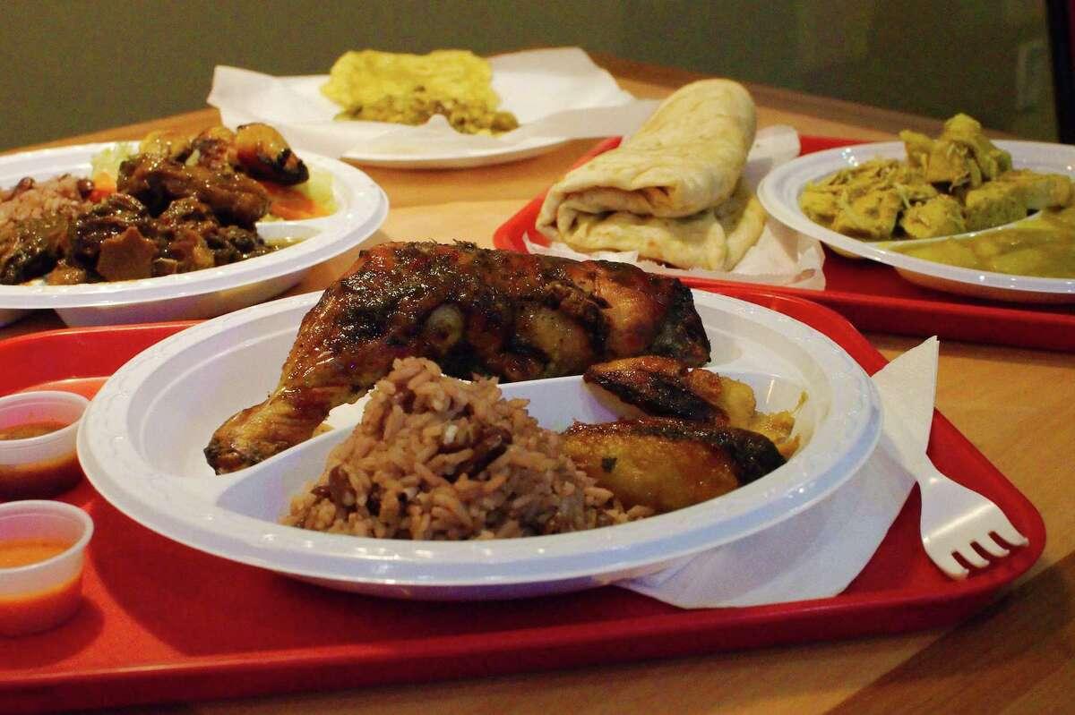 Chicken Jerk D'Caribbean Curry Spot.