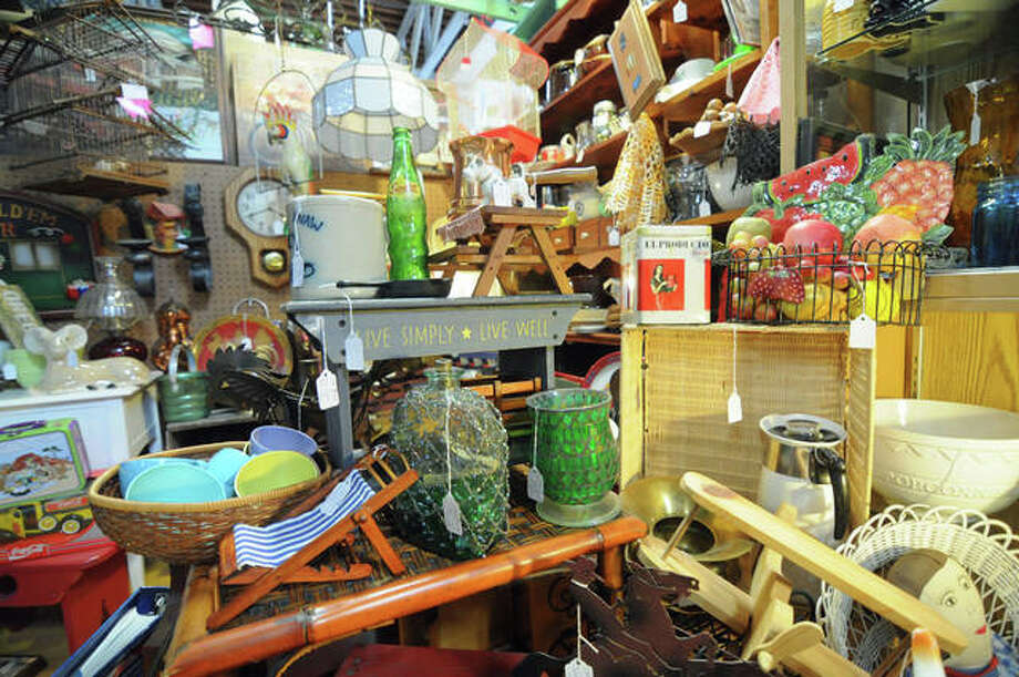 A selection of items for sale in the antique mall. Photo: David Blanchette | For The Intelligencer