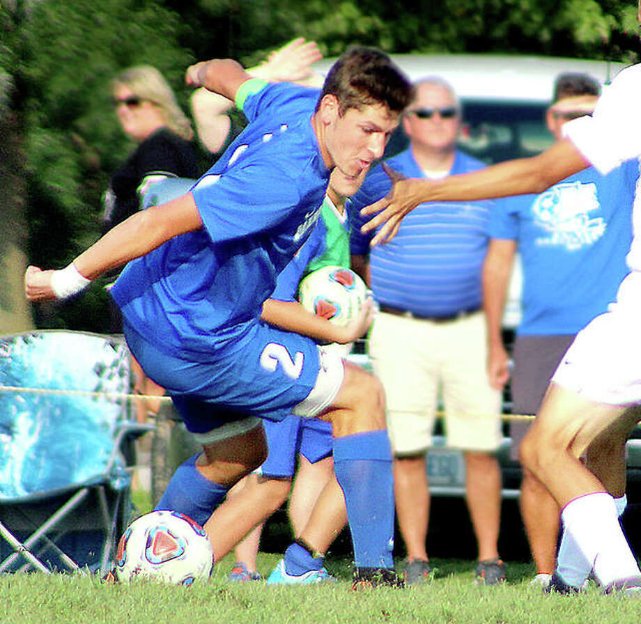Marquette Catholic High School senior Chris Hartrich has been named to the Illinois High School Association's All-State Academic Team. A standout in soccer and basketball, Hartrich was one of 26 student6-athletes from around the state to make the team. In addition, 50 others made the Honorable Mention Team, including Carlinville's Alexis Egelhoff and Andrew DeNeve. Photo: Pete Hayes | The Telegraph