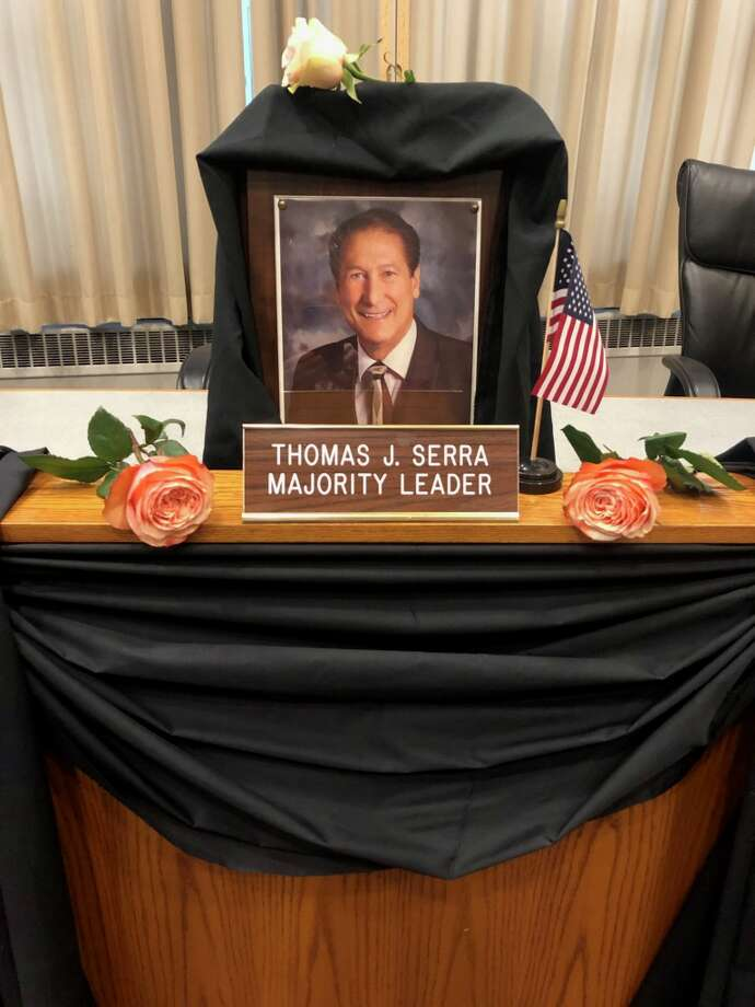 Tom Serra's chair in Council Chambers. Photo: Contributed