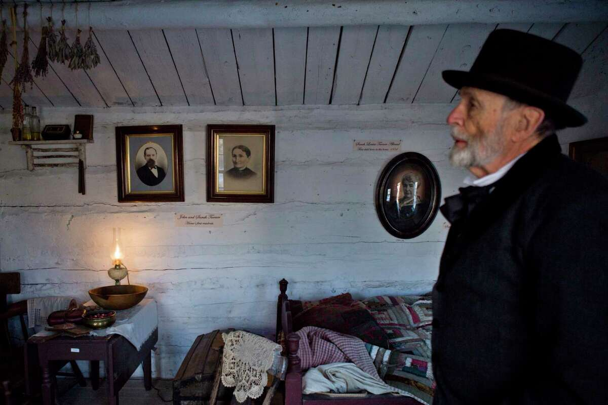 Stevens Nelson, the director of the Provo Pioneer Village, gives a tour of the village on Thursday, Jan. 31, 2019, in Provo, Utah.