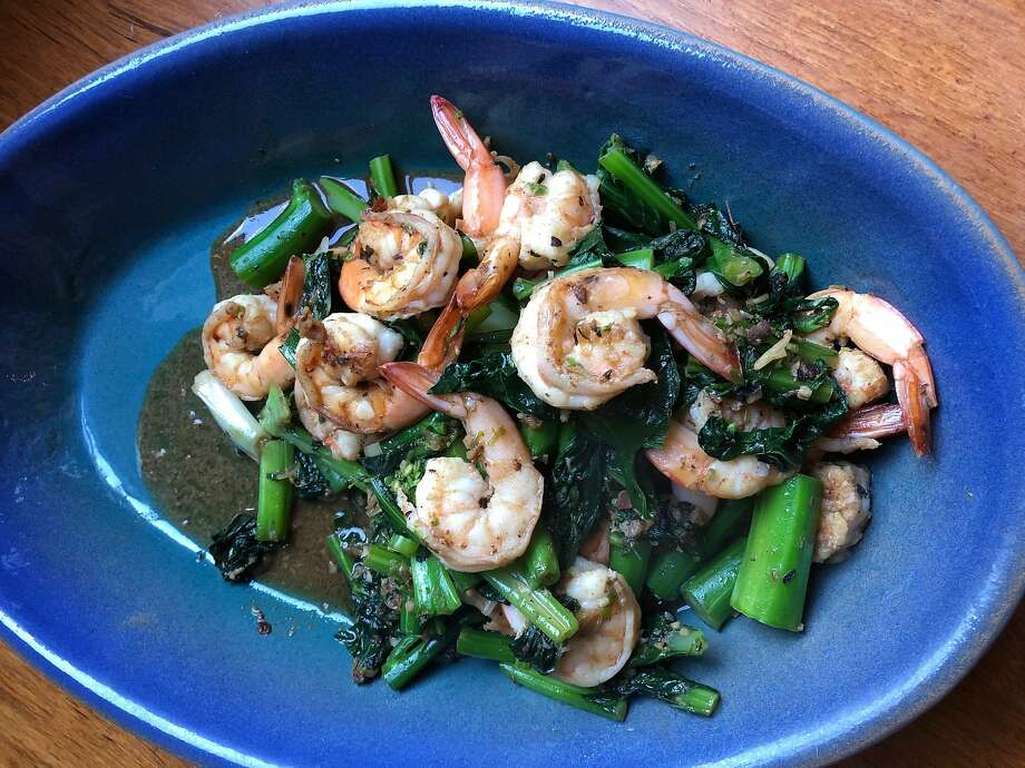 Repertoire: Stir-Fried Shrimp With Chinese Broccoli and Black Bean Sauce Photo: Jessica Battilana