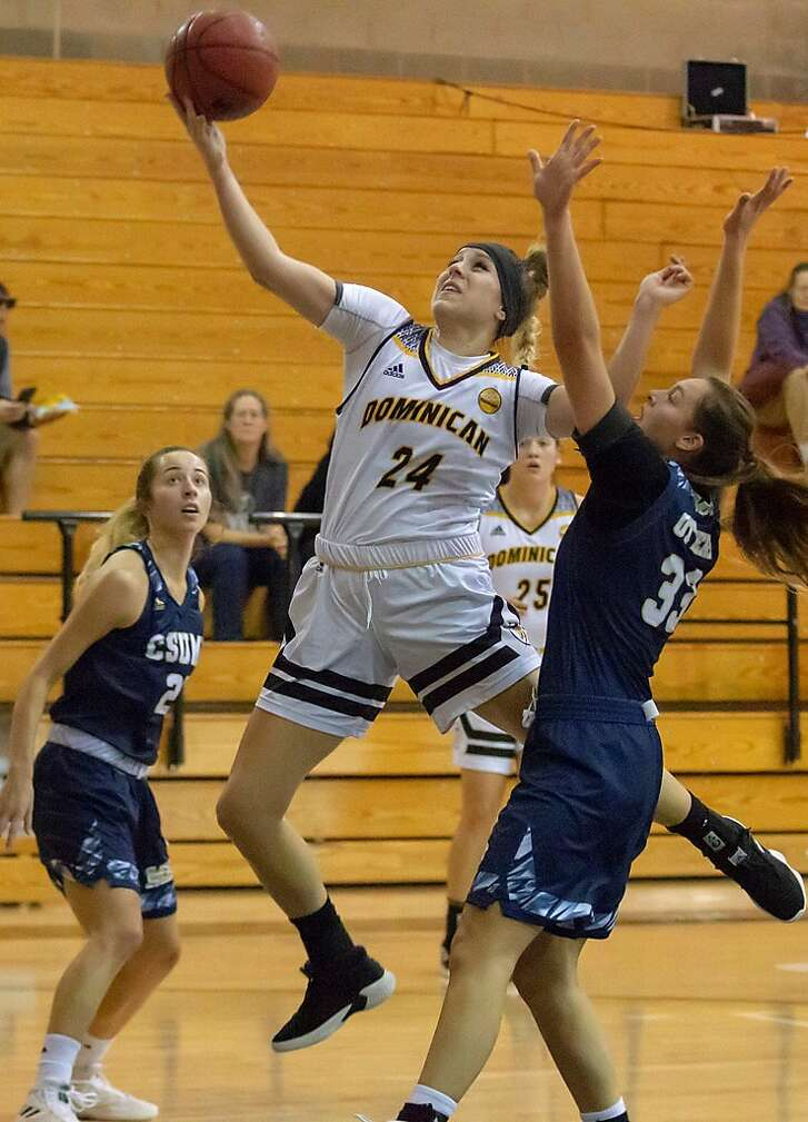 Natalie Diaz, a 6-foot-1 guard at Dominican University in San Rafael, is the No. 3 scorer in NCAA Division II with a 26.0-point average.
