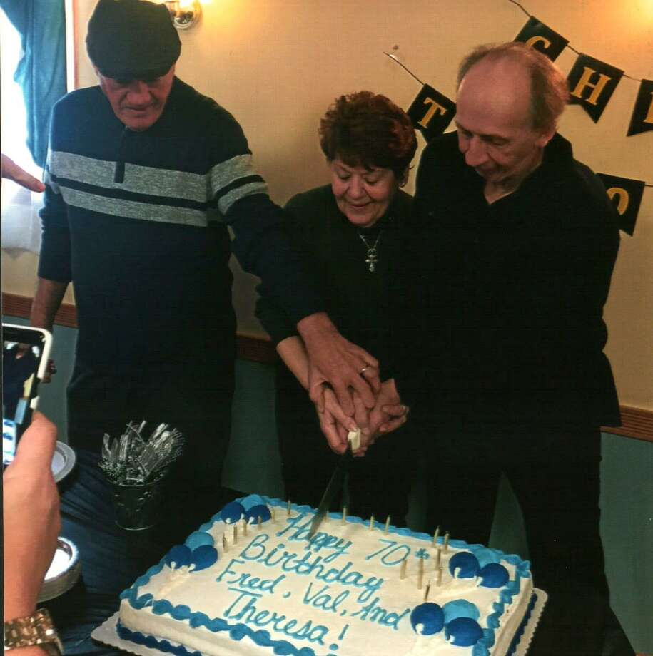 Triplets Valentino Anastasio of Wallingford, Fred Anastasio of East Haven and Theresa DeCicco of North Haven celebrate their 70th birthday. Photo: Contributed Photo