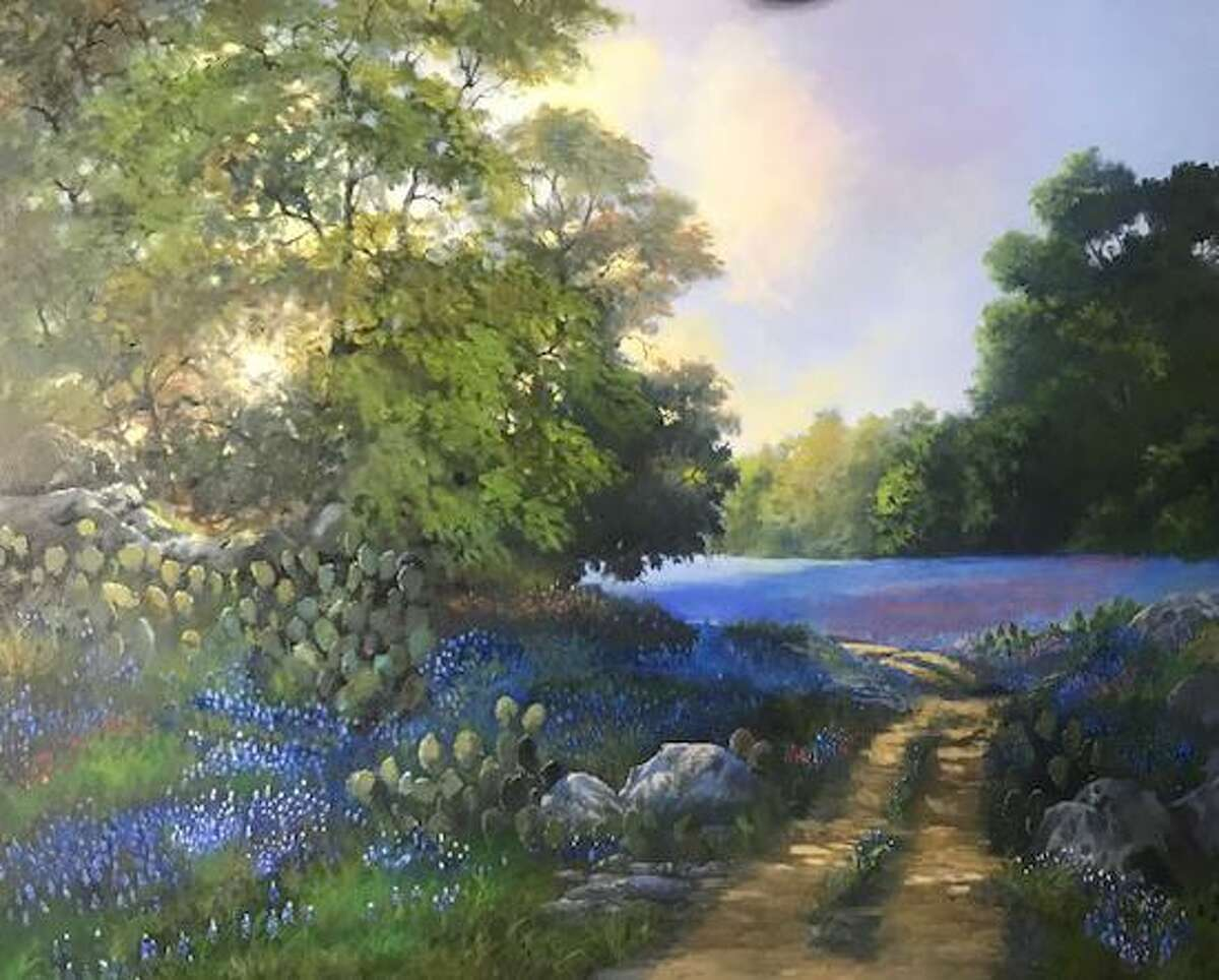 Artist Sam Baker's painting is one of the prized items to be sold at a live auction benefitting the Crighton Theatre on March 28 at Madera Estates in Conroe.