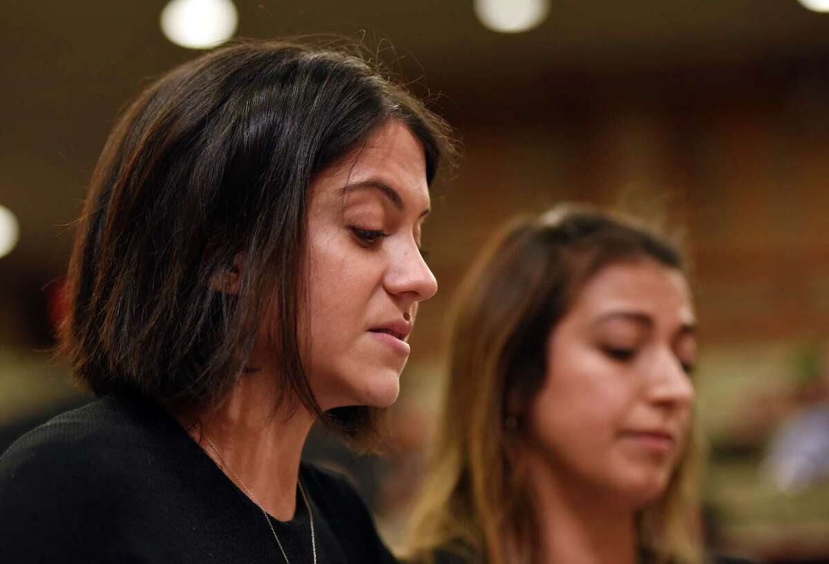 Former legislative employee Erica Vladimer describes her story of sexual harassment during a joint public hearing on sexual harassment in the workplace on Wednesday, Feb. 13, 2019 at the Legislative Office Building in Albany, NY. (Phoebe Sheehan/Times Union)