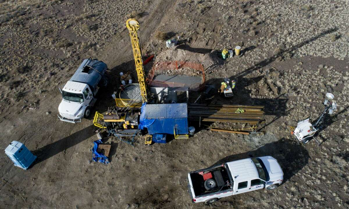 Ioneer has hired drilling contractors that operate around the clock, extracting core samples. The mine and processing plant will take up 630 acres.
