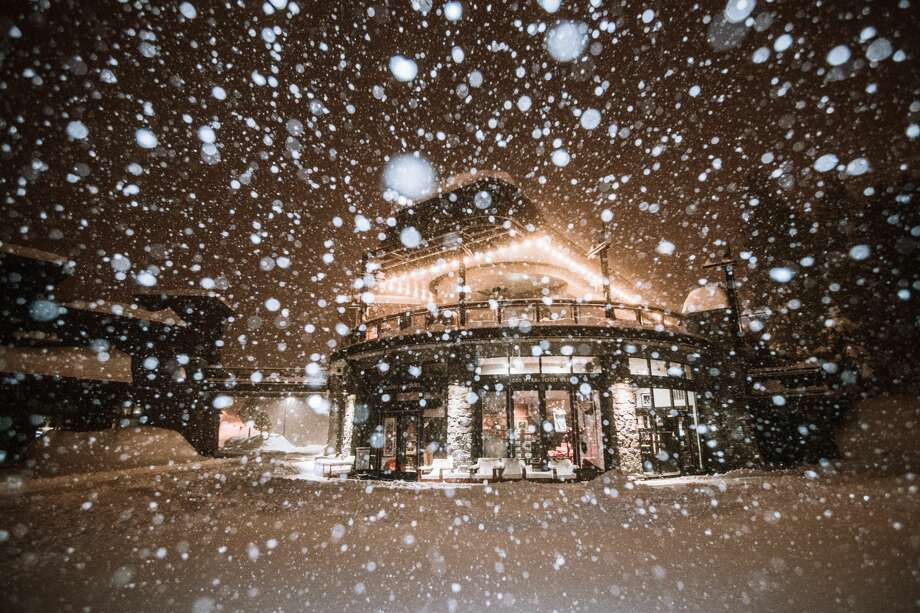 Mammoth Resort in the Central Sierra has seen an impressive amount of snow in 2019 and claims to have the highest snow base in the country. Photo: Peter Morning