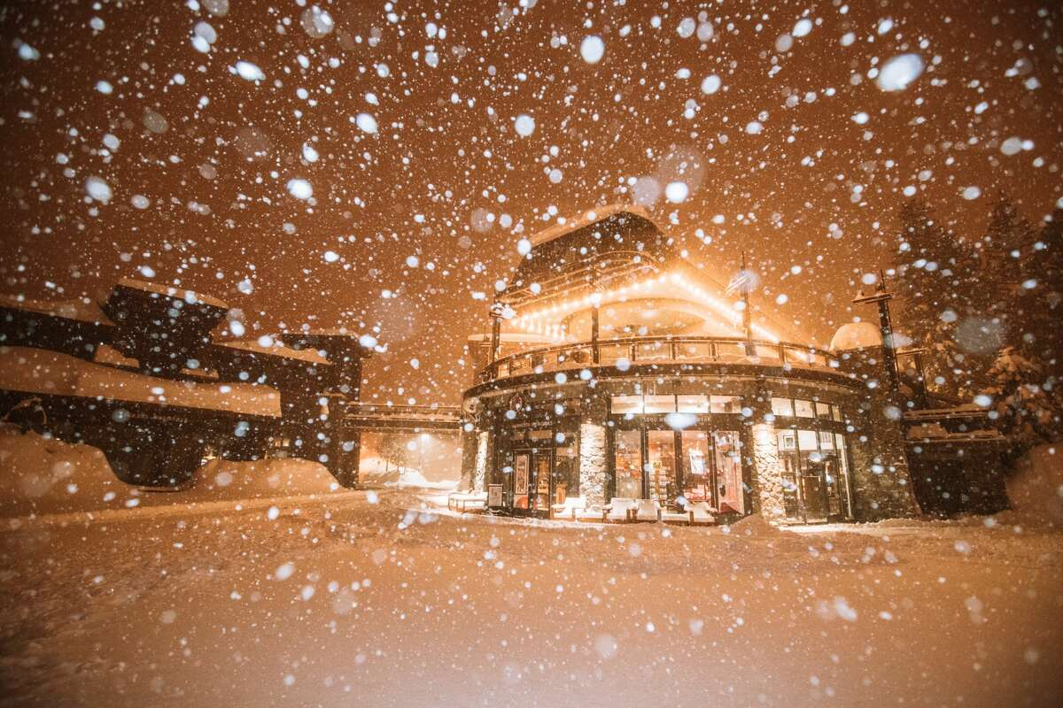 Mammoth Resort in the Central Sierra has seen an impressive amount of snow in 2019 and claims to have the highest snow base in the country.
