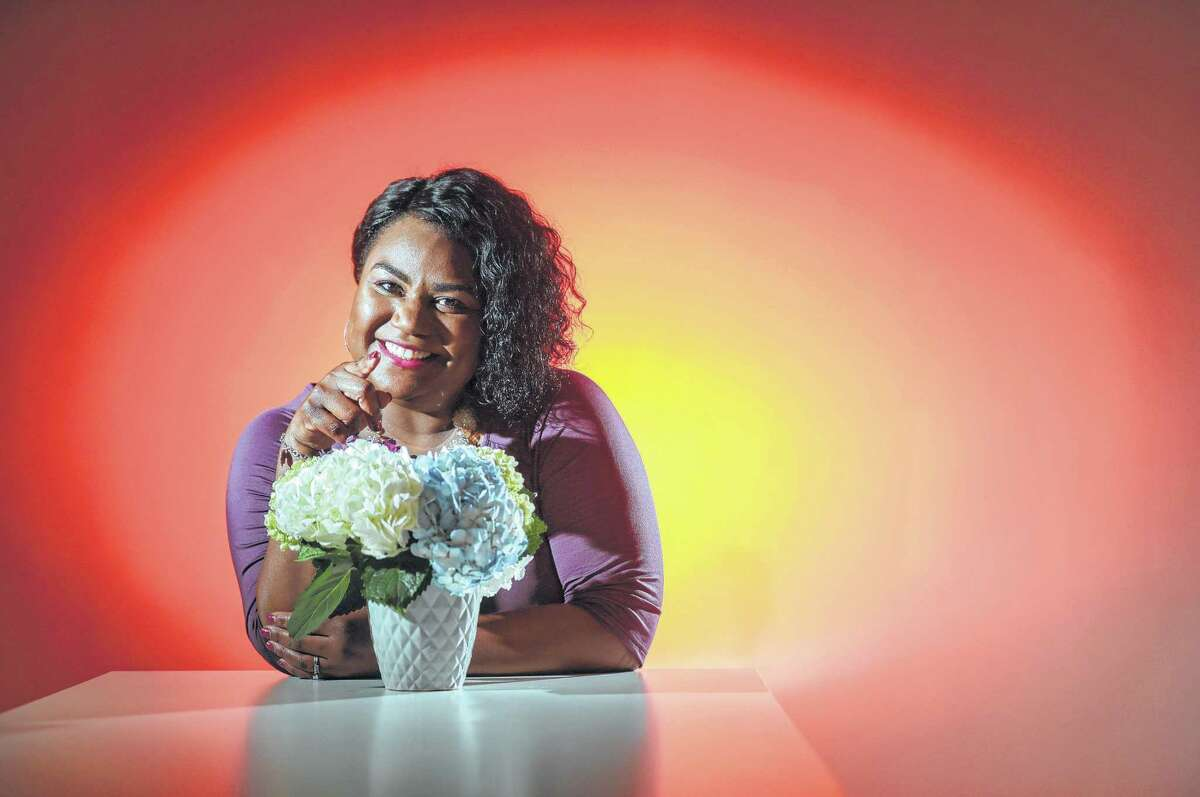 Tera Stidum poses for a portrait in the Houston Chronicle studio, Monday, Feb. 11, 2019, in Houston.