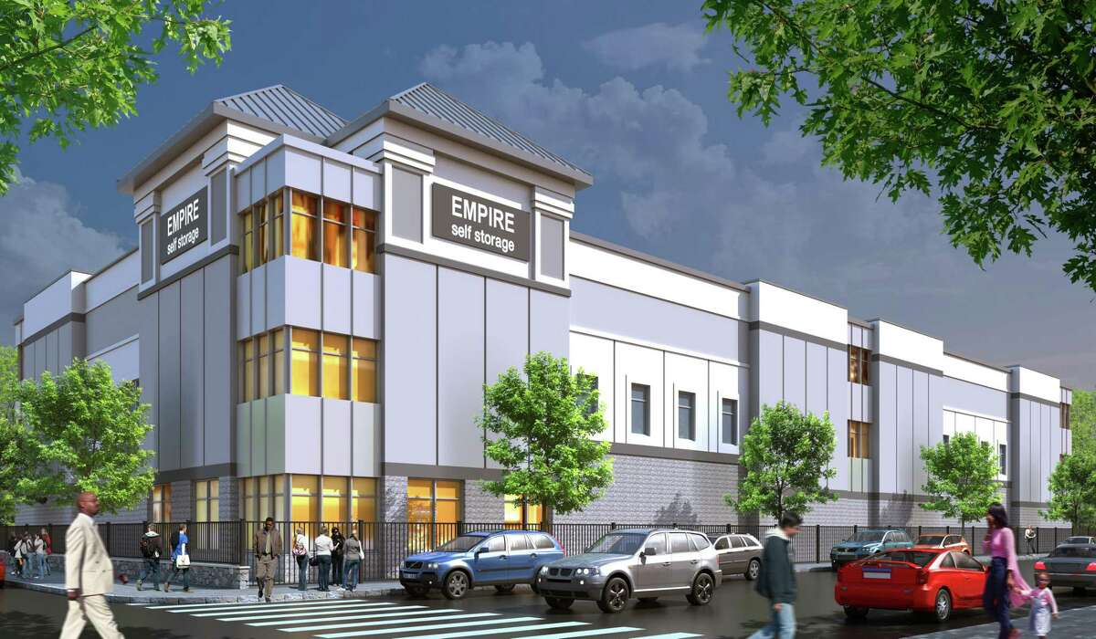 A rendering for the new self-storage facility to be built on 11 Leon Pl. in the city's West Side. The building, approved in November, will be operated by CubeSmart, which is building another facility in Waterside and opened one in the Cove.