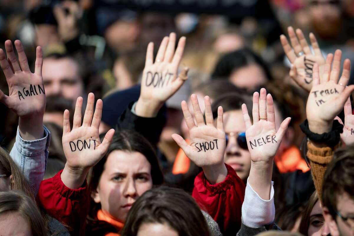 The March for Our Lives rally in Washington on March 24, 2018, one of hundreds of protests held across the world calling for action on gun violence. On Feb. 14, 2018, a former student slaughtered 17 people at Marjory Stoneman Douglas High School in Parkland, Fla. Since then, the Parkland students have become a force for gun control legislation and boosted the youth vote. (Erin Schaff/The New York Times)