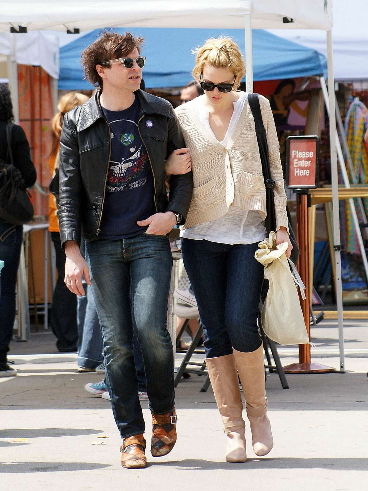 Ryan Adams and Mandy Moore sighting at the flea market on March 29, 2009 in West Hollywood, California.