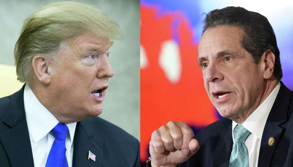 Composite image of President Donald Trump, left, and New York Governor Andrew Cuomo (Michael Reynolds-Pool/Getty Images and AP Hans Pennink/AP)
