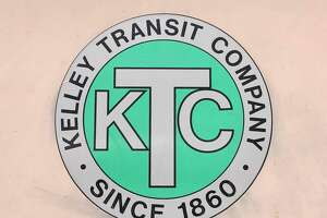 The logo for the Kelley Transit Company formed in 1860.