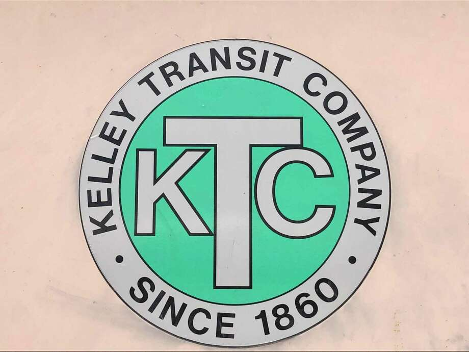 The logo for the Kelley Transit Company formed in 1860. Photo: Leslie Hutchison / Hearst Connecticut Media