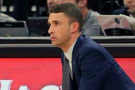 Minnesota Timberwolves interim head coach Ryan Saunders watches his players in the second half of an NBA basketball game against the Los Angeles Clippers Monday, Feb. 11, 2019, in Minneapolis. The Timberwolves won 130-120. (AP Photo/Jim Mone)