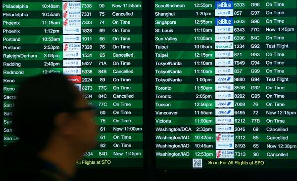 Flights: Storm causes 350-plus delays, cancellations at SFO