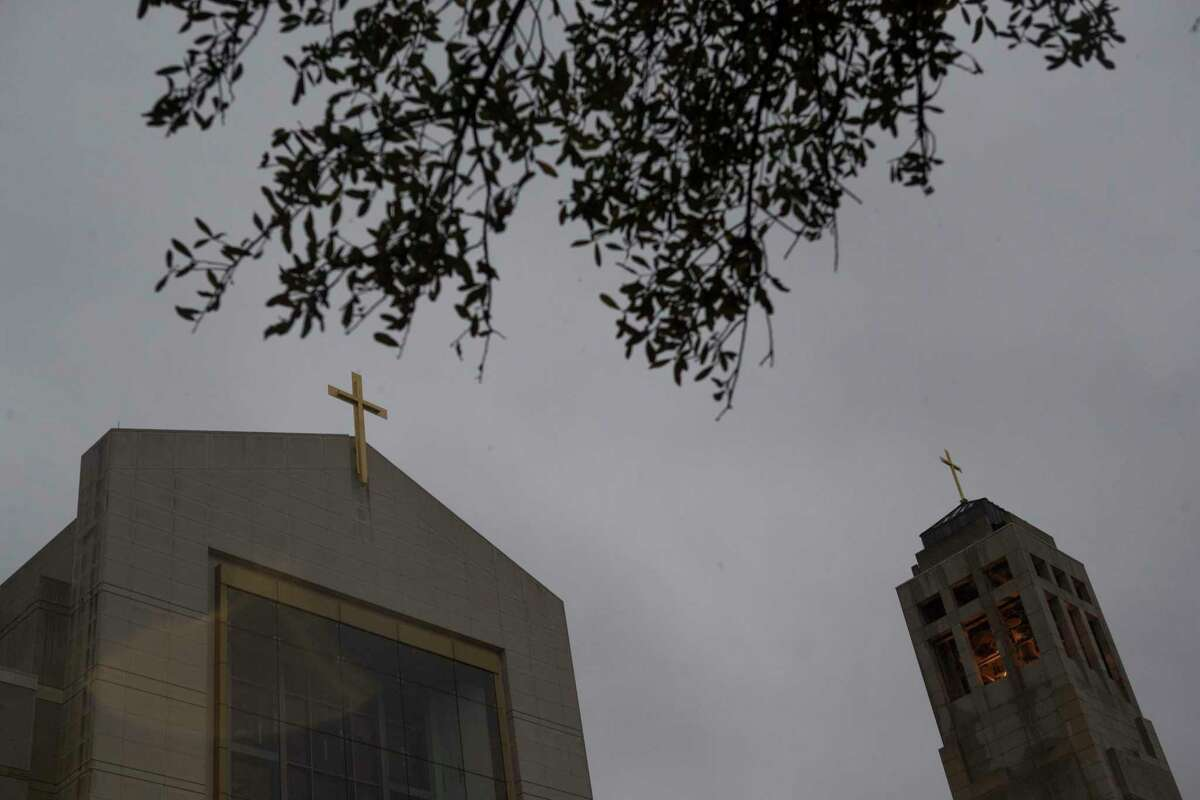 """View of the Co-Cathedral of the Sacred Heart the day the Archdiocese of Galveston-Houston released a list of """"credibly accused"""" priests in Houston region on Thursday, Jan. 31, 2019, in Houston."""