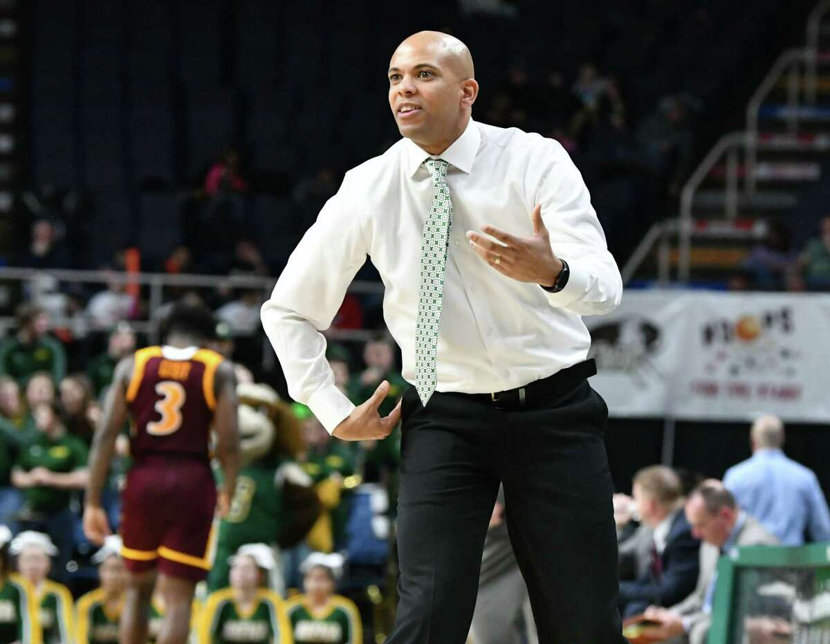 Former Siena head coach Jamion Christian said he is used to seeing protests in Washington, D.C., in his job as coach of George Washington, but Wednesday's events caught him by surprise. (Lori Van Buren/Times Union)