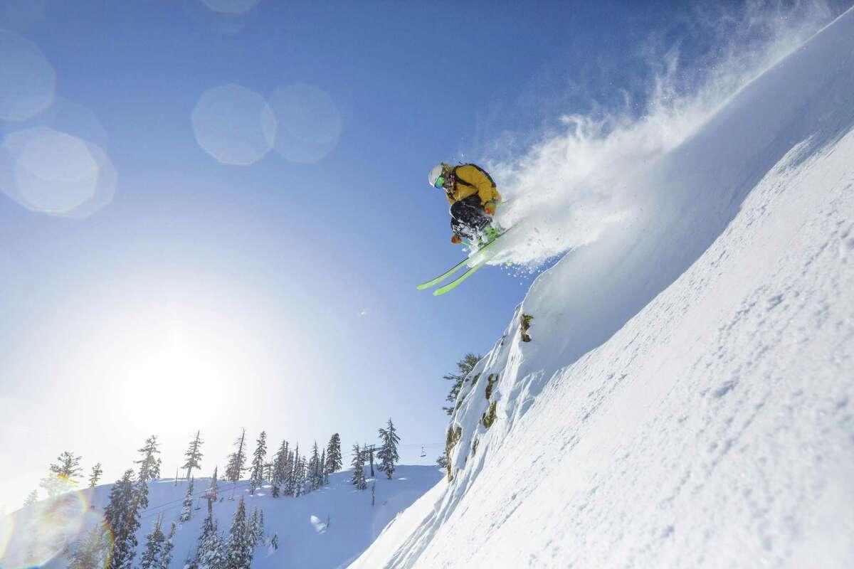 Skiing at Alpine Meadows Ski Resort on Feb 11, 2019.