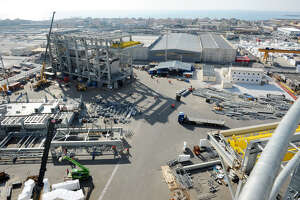 Baker Hughes has landed a contract to make two turbines for a pair of production units at the LNG Canada project in Kitimat, British Columbia. The turbines are made at this manufacturing plant in Avenza, Italy.